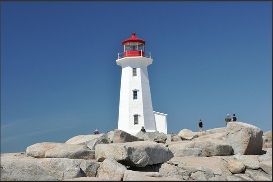 Peggy's Cove Lighthouse: Here she is.