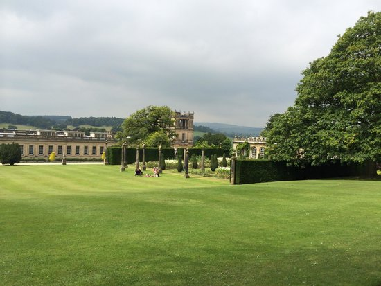 Chatsworth House: View of the house from the gardens