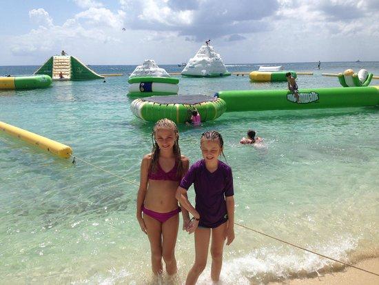 Mr. Sancho´s Beach Club Cozumel: The water playground is $12 per person a la carte.