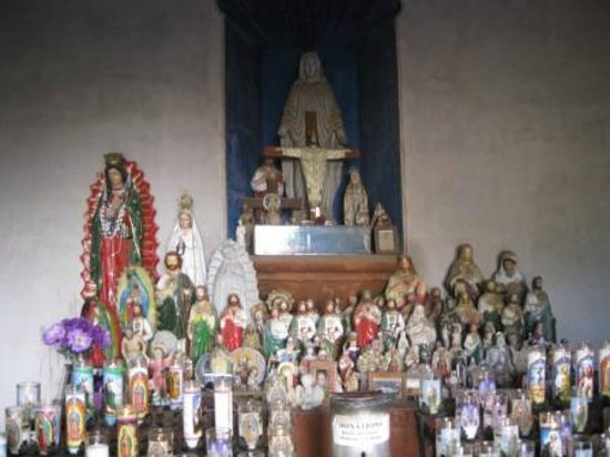 Mission San Xavier del Bac: Light a candle