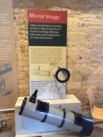 Woolsthorpe Manor: One of many hands-on exhibits in the discovery center