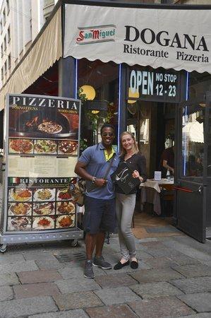 Ristorante Pizzeria Dogana: Me and hostess