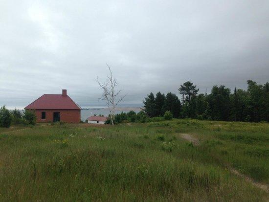 Pictured Rocks National Lakeshore: Au Sable Light Station looking toward Log Slide