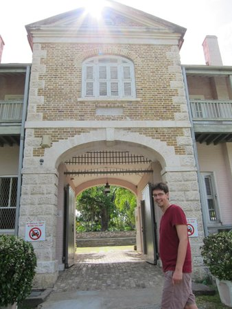 Barbados Museum & Historical Society : entrance into the museum