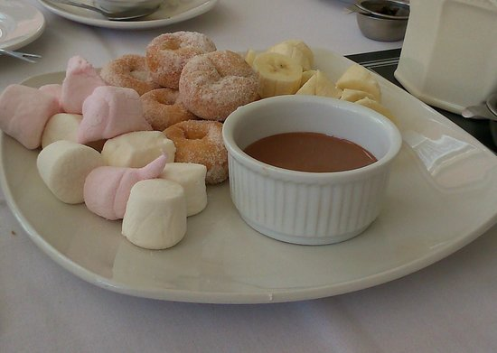 Best Western Grosvenor Hotel: Chocolate fondue