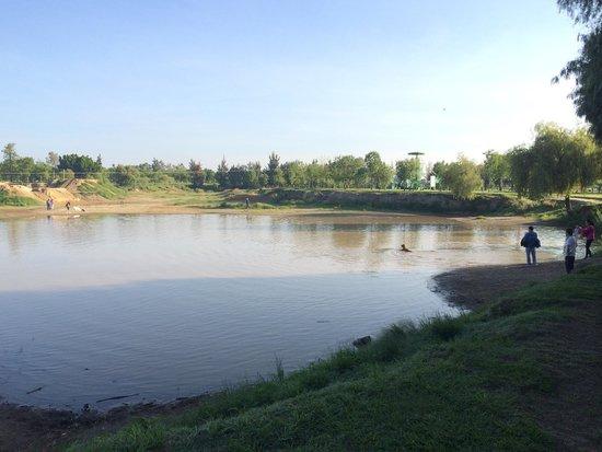 Parque Metropolitano: Semi lago de lluvias.