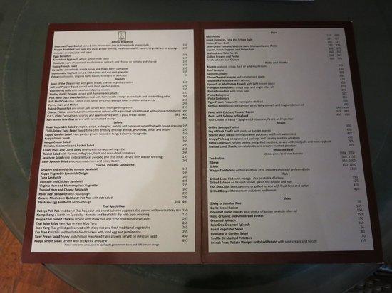 Kuppa : menu