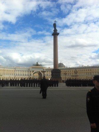 Palace Square (Dvortsovaya Ploshchad): Police graduation