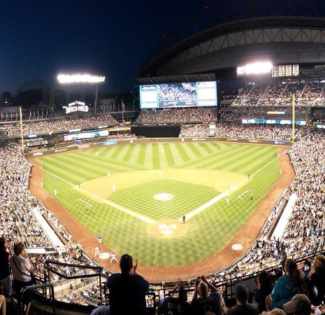 Safeco Field: Behind home plate, upper level!