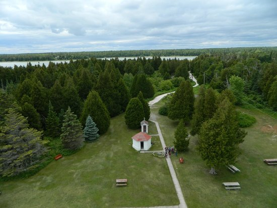 Cana Island Lighthouse: grounds from lighthouse