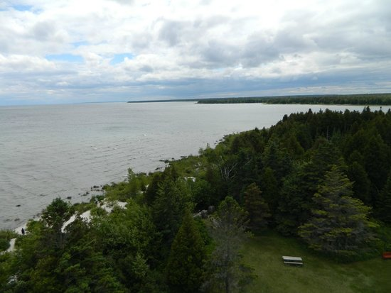 Cana Island Lighthouse: Looking south from lighthouse