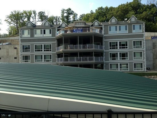 Riviera Villas & RV Resort: View from boat dock looking at back side of condos