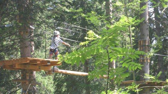 Hotel Altein: Climbing Park in Arosa (free!)