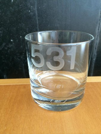 Hotel Le Germain Toronto: Room Number etched on glasses