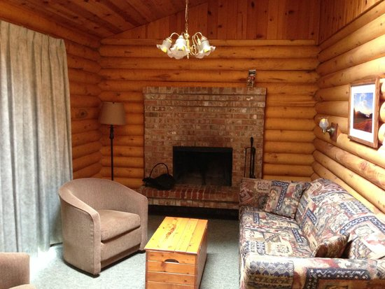 Cusheon Lake Resort : livingroom - so nice to have a fire at night