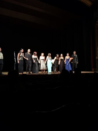 Teatro Nacional Costa Rica : Young opera singers who performed arias in a mid-day concert