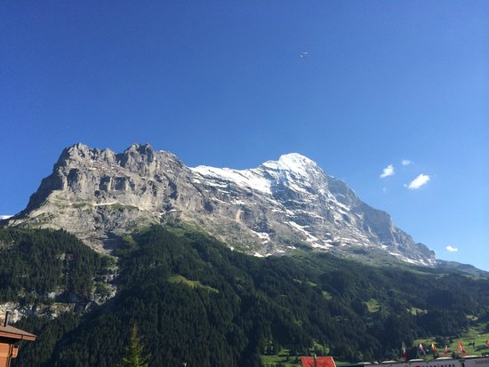 Hotel Hirschen: View of the Eiger from the 4th floor
