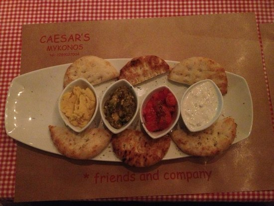 Caesar's: The starter Greek dip. Absolutely delicious. Perfect to share.