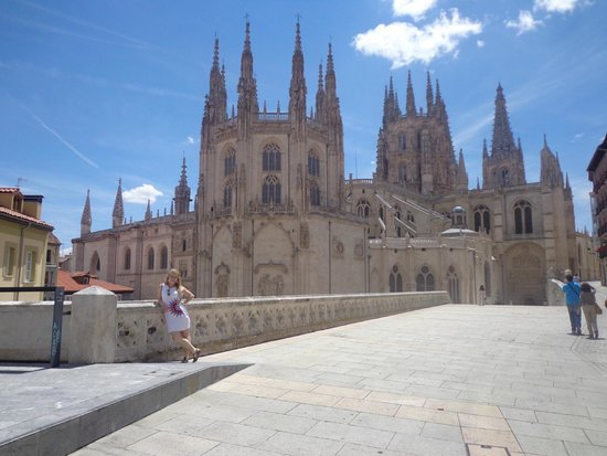 Catedral de Burgos: The backview of the cathedral