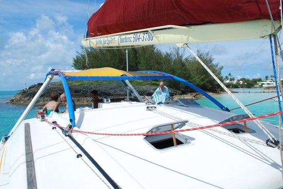 Ana Luna Adventures: Picture of the catamaran