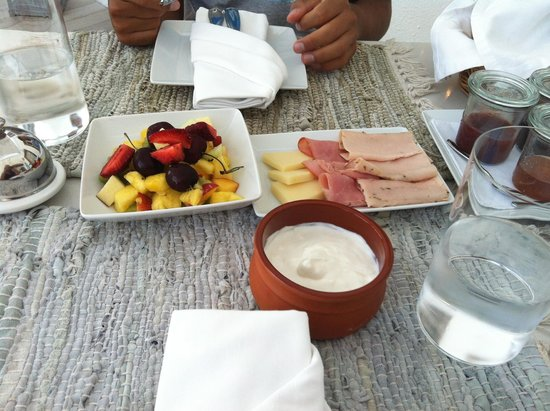 Iconic Santorini, a boutique cave hotel: Part i of breakfast