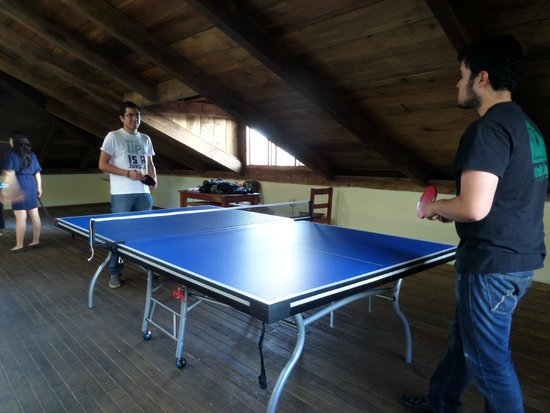 Yaxkin hostel-San Cristobal: Enjoy the new ping pong table