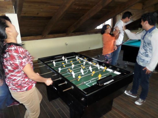 Yaxkin hostel-San Cristobal: Play the super funy board soccer with friends..