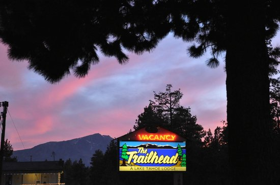 The Trailhead: Our sign at sunset