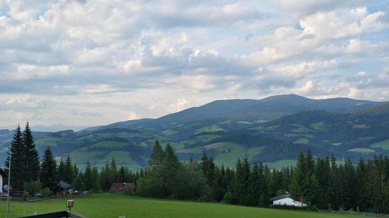 Hotel Rainsberghof: schitterend uitzicht vanaf onze kamer