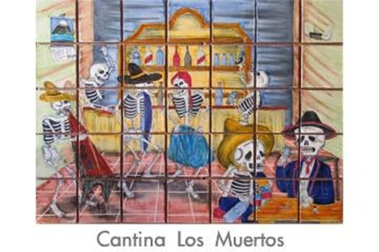 From the state of guanajuato to you guacamayas for Dia de los muertos mural