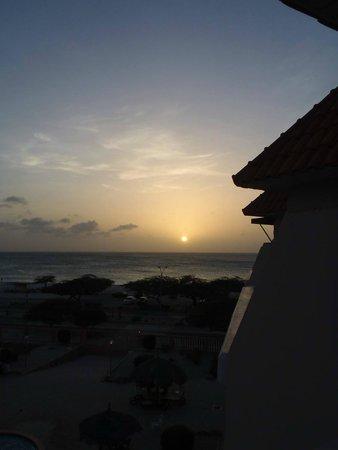 Paradise Beach Villas: Sunset from the Hotel Balcony