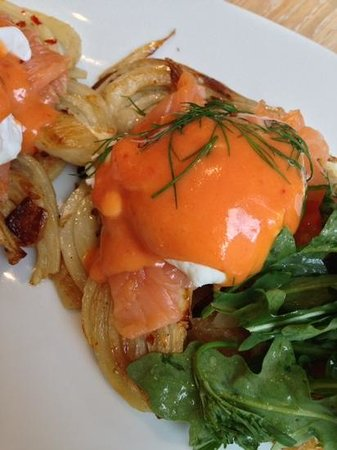 The Langham, Chicago: Smoked Salmon and Artichokes Eggs Benedict