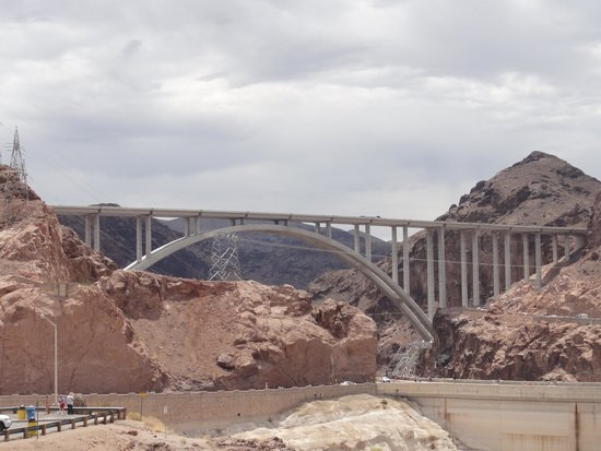 Mike O'Callaghan-Pat Tillman Memorial Bridge: View of the Bridge from the Dam