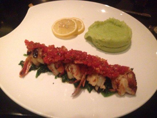 Bix Restaurant: Grilled shrimp ��