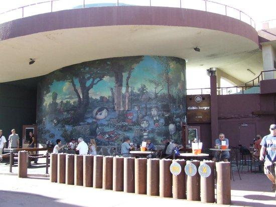 Diablo Burger: Tucked away behind this interesting mural