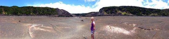 Panorama of the Kilauea Iki Trail