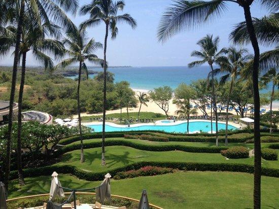 Hapuna Beach Prince Hotel: Hapuna Beach view from lobby