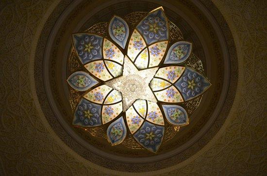 Mosquée Cheikh Zayed : Chandelier
