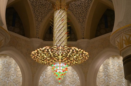Mosquée Cheikh Zayed : Worlds largest chandelier