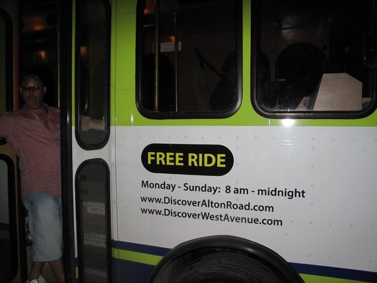 Mondrian South Beach Hotel: Free Trolley to Lincoln Road Mall