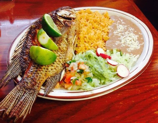 La Casa del Sol Restaurant: Mojarra Frita (Fried Whole Tilapia Fish)