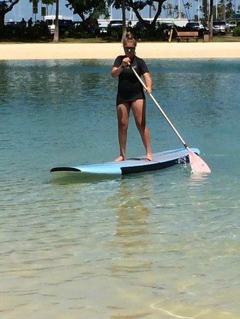 Hilton Hawaiian Village Waikiki Beach Resort: Lost of kids activities...paddleboarding #1