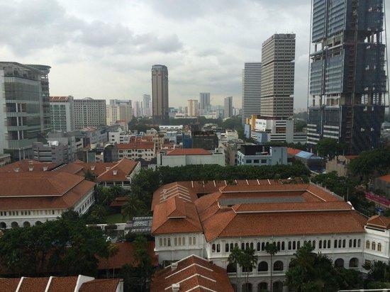 Fairmont Singapore: View of central Singapore