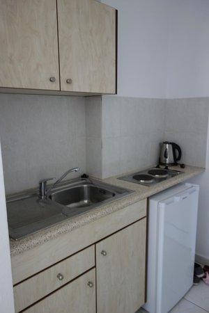 Hillside Studios and Apartments : на мини-кухонке все самое необходимое