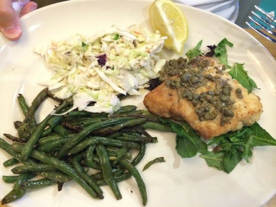 Off the Hook Raw Bar and Grill : Fresh caught red snapper with capers.