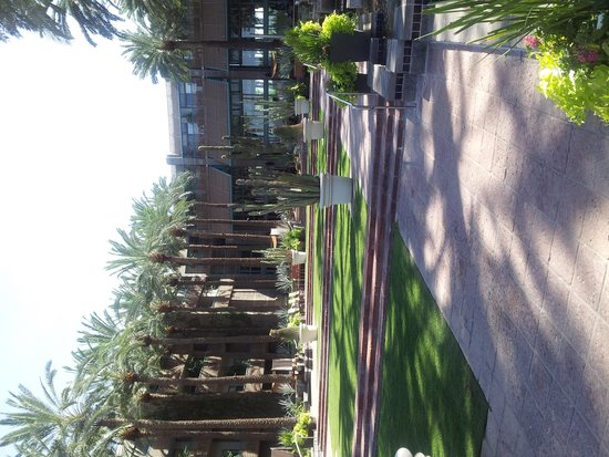 Hyatt Regency Scottsdale Resort and Spa at Gainey Ranch: Courtyard between pools and Hotel