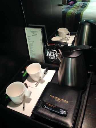 The Montcalm at the Brewery London City : Complimentary tea and coffee plus mini bar price list