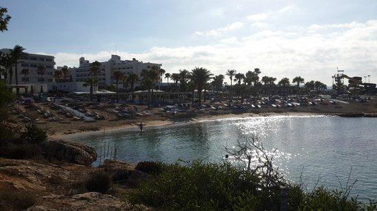 Adams Beach Hotel: Собственный пляж