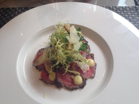 Angels With Bagpipes: Beef carpaccio starter