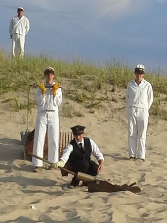 Cape Cod National Seashore: 1902 Beach Appartus Drill Reenactment at Old Harbor Life-Saving Station